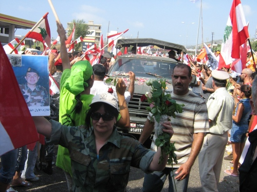 استقبال الجيش في البترون (عمر حبيب)