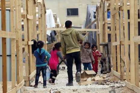 اعادة ترميم «مخيم الحماصنة» في بلدة غزة البقاعية (مروان طحطح)