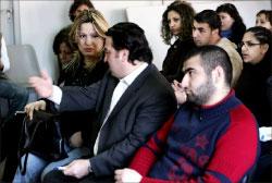 بشير والبسّام خلال اللقاء (وائل اللادقي)