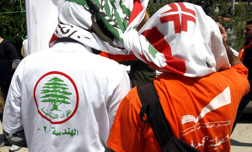 عوني يتظلل بعلم القوات في انتخابات «الهندسة ـ 2» (مروان طحطح)