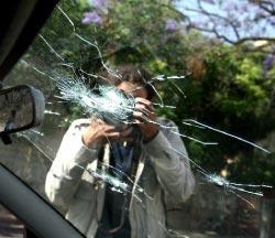 """سيارة """"الجزيرة"""" التي تعرضت لإطلاق النار (مروان بو حيدر)"""