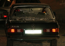 السيارة التي قضى فيها القادري وزوجته