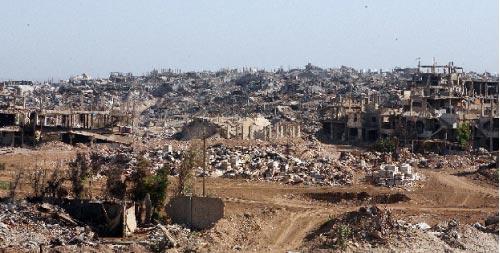 مخيم نهر البارد للاجئين بعد تدميره (أرشيف - هيثم الموسوي)