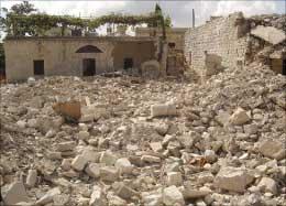 كنيسة صفد البطيخ بعد تدميرها