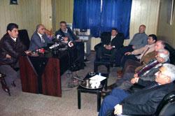 إجتماع القوى والاحزاب وفعاليات عكارية في مقر الحزب السوري القومي الاجتماعي في حلبا امس (عصام رجب)