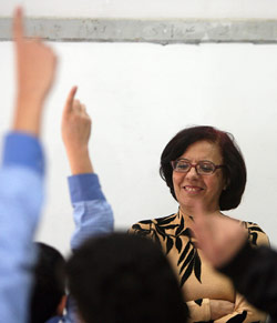 معلمة في احدى مدارس بيروت (مروان طحطح)