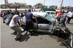 حادث سير مروع على طريق المطار (أرشيف ــ مروان طحطح)