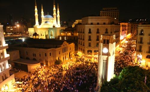 ساحة النجمة تحتفي بـ «لبنان ما بيموت» أول من أمس (مروان بو حيدر)