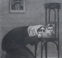 لوحة أم الشهيد ليوسف عبدلكي
