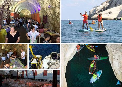 الترويج السياحي لموقع رأس الناقورة في المواقع الالكترونية الاسرائيلية