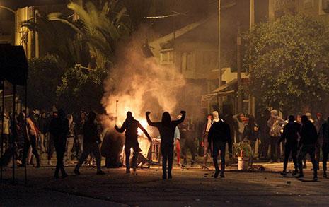 نُظّمت الاحتجاجات الأولى استنكاراً لقانون المالية في بداية الشهر الجاري (أ ف ب)