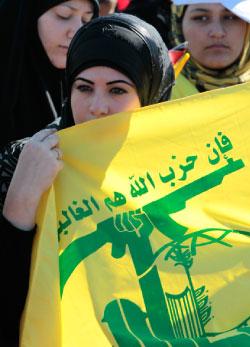 خلال مهرجان حزب الله الأخير في مارون الراس الأسبوع الماضي (حسين منلا ــ أ ب)