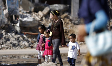 التنظيمات الفلسطينية القائمة ليست بمستوى طموحات الشعب الفلسطيني (أ ف ب)