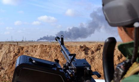تمكنت القوى الأمنية العراقية من تحرير سلسلة جبال حمرين شمال شرق بعقوبة بالكامل (الأناضول)