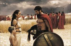 مشهد من «300» للمخرج زاك سنايدر