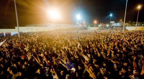 جمهور إحدى ليالي «موازين» في حيّ الرياض