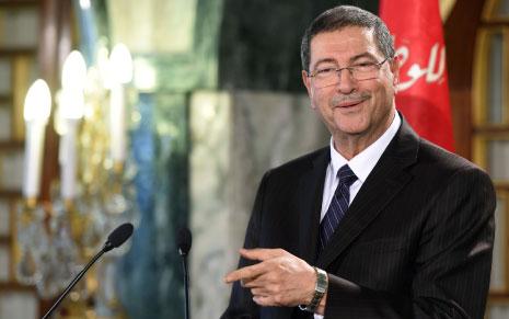 الصيد أعلن تشكيلته الحكومية في تونس أمس (أ ف ب)