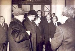 عبدالناصر وخروشوف وهيكل ومحمود رياض في موسكو