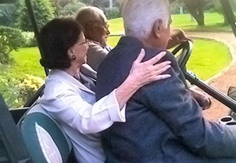 مع فاتن حمامة وزوجها الدكتور محمد عبدالوهاب في برقاش