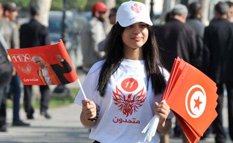 أغلقت تونس الحدود مع ليبيا حتى انتهاء الانتخابات الرئاسية يوم الأحد(أ ف ب)