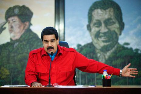 شدد مادورو على أنه لا توجد وسيلة تمكن واشنطن من الضغط على فنزويلا في أي شيء، لأنها دولة حرة(أ ف ب)