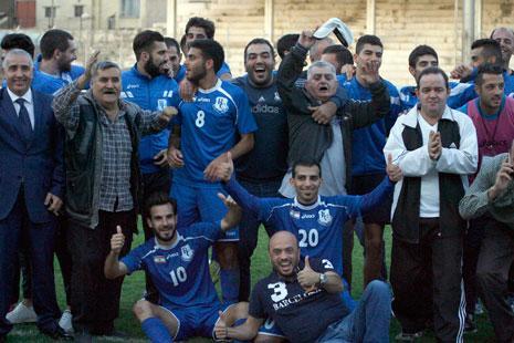 .... واحتفال راسينغاوي بالفوز على طرابلس