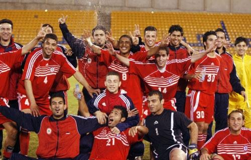 فرحة المنتخب الأولمبي اللبناني تكررت أمام كوريا الشمالية (أرشيف ـ محمد علي)