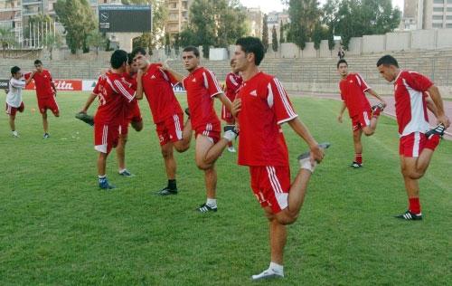 استعدادات لاعبي المنتخب اللبناني مستمرة رغم صعوبة المهمة (محمد علي)