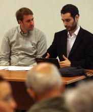 بشير سعاده محاضراً يوم أمس في AUB (مروان طحطح)