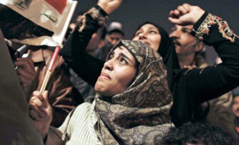دموع الفرح في الميدان (تارا تودراس وايتهيل ــ أ ب)