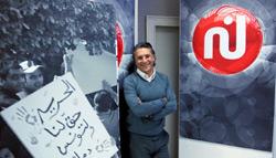 مدير عام «نسمة» نبيل القروي داخل استديوهات التلفزيون