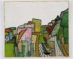 مدينة» لهوغيت كالان (زيت، 80 × 100 سنتم، 1968)