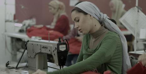 ياسمين رئيس في مشهد من «فتاة المصنع»