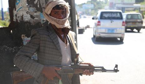 سيطر الحوثيون، أمس، على منطقة المناسح، معقل «القاعدة» في محافظة البيضاء(الأناضول)