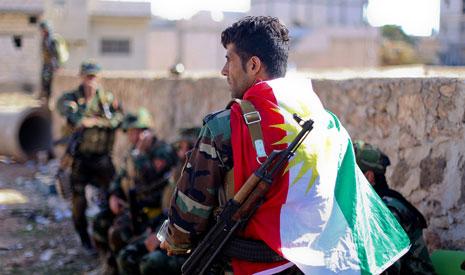 طلبت القيادات الكردية الحصول على المركبات المدرعة المقاومة للألغام وتكنولوجيا لمواجهة العبوات الناسفة(الأناضول)