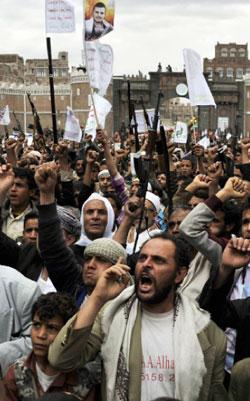 بالنسبة لإسرائيل يكفيها منع الحوثيين من السيطرة على باب المندب (ا ف ب)
