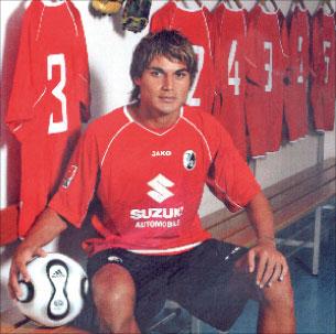 يوسف محمد في قميص فريقه السابق فرايبورغ (أرشيف)