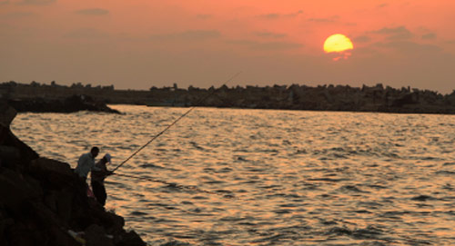 لم يحجب ضوء شمس آخر النهار دمار بيوت غزة، ولن تحجب الكثير مع تكرار الضربات منذ أيام قليلة. لكن مع ذلك، ثمة ما يوحي بالحياة في تلك البقعة: صفاء البحر وهذان الصيادان اللذان يسابقان الضوء الباقي كي يحملا