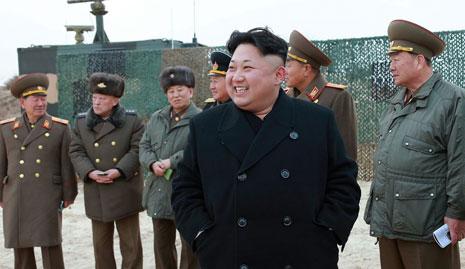 أكد كيم جونغ أون أن بيونغ يانغ ستبذل كل الجهود لإحراز تقدم في الحوار والمفاوضات مع سيول (أ ف ب)