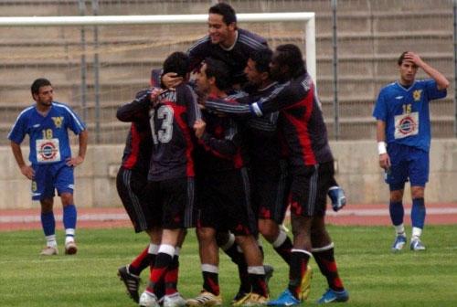 فرحة لاعبي المبرة بهدف التأهل (محمد علي)