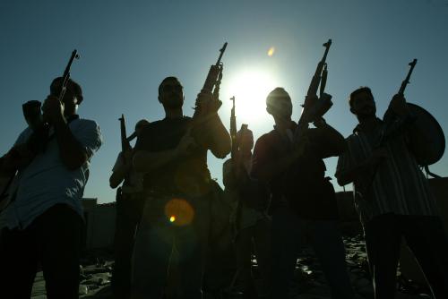 مسلّحون تابعون لشركات أمنيّة خاصّة في بغداد (أرشيف - أ ف ب)