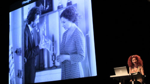 ربيع مروة ولينا صانع في العرض الافتتاحي في بيروت (حسام مشيمش)