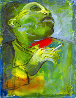«سارة فوغان» (أكريليك على ورق مقوّى ــ 70 × 50 سنتم ــ 2001)