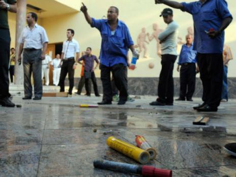 من تظاهرات في القاهرة (محمد عبد الغني ــ رويترز)