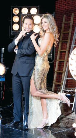 كارلا حداد ووسام بريدي في «الرقص مع النجوم»