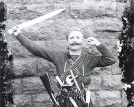 نسيب خنيصر، صفيحة زجاجية، قبضاي شويري، حوالى 1910