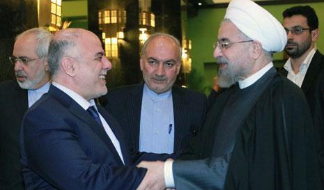 أكد رواحاني أن إيران لن تدخر جهداً لدعم الشعب العراقي(أ ف ب)
