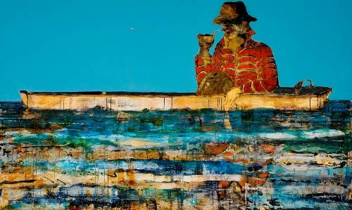 «معجزة الشرق» (مواد مختلفة على قماش ــ 200 × 250 سنتم ــ 2009)