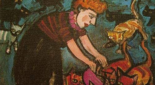 لوحة Glamour (زيت على قماش ــ 63× 85 سنتمتراً)