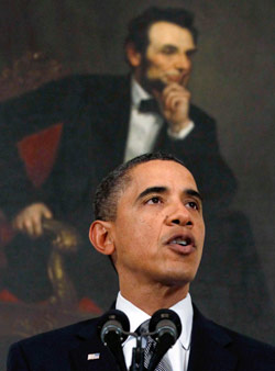 متى يتخذ اوباما قراره النهائي؟ (جيم يونغ ــ رويترز)